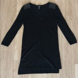 H&M Sweater with Faux Leather Shoulder Detail